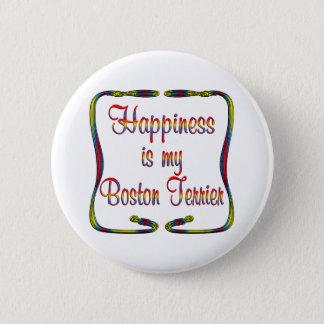 Het Geluk van Boston Terrier Ronde Button 5,7 Cm