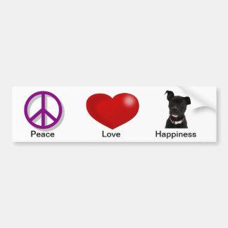 Het Geluk van de Liefde van de vrede Bumpersticker