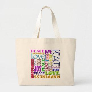 Het Geluk van de Liefde van de Vreugde van de vred Grote Draagtas