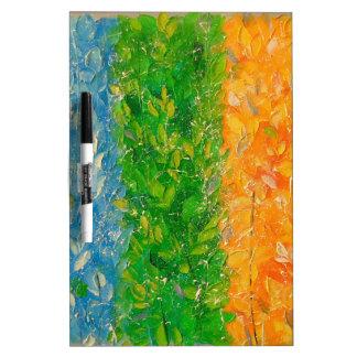 Het geluk van de regenboog dry erase whiteboard
