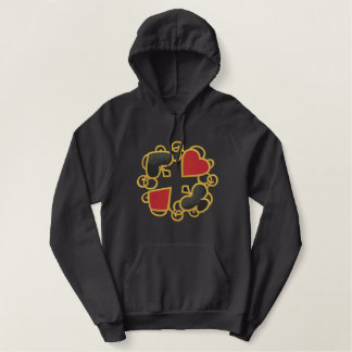 Het Geluk van het casino Geborduurde Sweater Hoodie