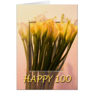 Het gelukkige 100ste Wenskaart van de Verjaardag