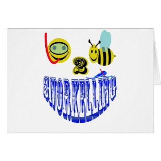 het gelukkige 2 bij snorkelen wenskaart
