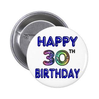 Het gelukkige 30ste Ontwerp van de Verjaardag in d Speldbutton