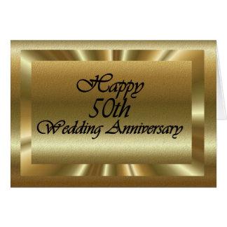 Het gelukkige 50ste Jubileum van het Huwelijk Wenskaart