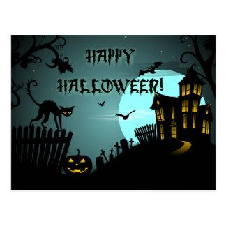 Het gelukkige Blauw van het Spookhuis van de Kat Briefkaart