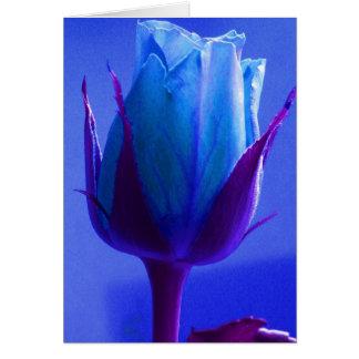 Het gelukkige Blauw van het Vaderdag nam II toe Wenskaart