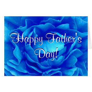 Het gelukkige Blauw van het Vaderdag nam toe Wenskaart