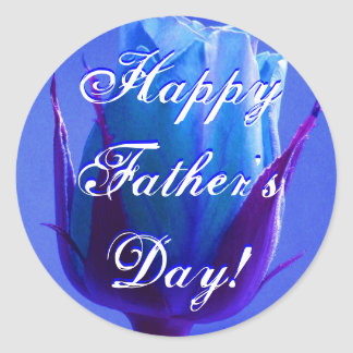 Het gelukkige Blauw van het Vaderdag nam toe Ronde Sticker