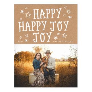 Het gelukkige Briefkaart van de Foto van Kerstmis