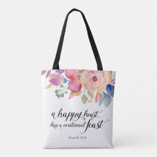 Het gelukkige Canvas tas van het Hart
