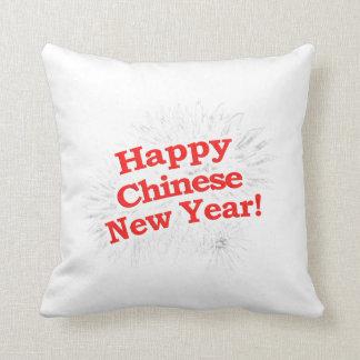 Het gelukkige Chinese Ontwerp van het Nieuwjaar Sierkussen