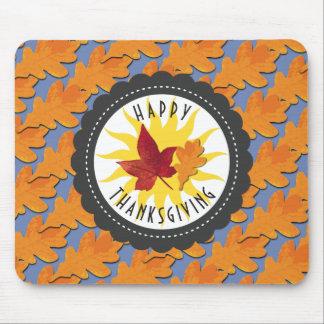 Het gelukkige Eiken Blad van de Herfst van de Muismat