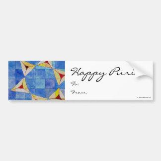 Het gelukkige Etiket van Purim To/From Bumpersticker