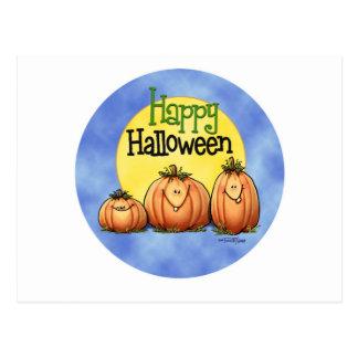 Het gelukkige Flard van de Pompoen van Halloween Briefkaart