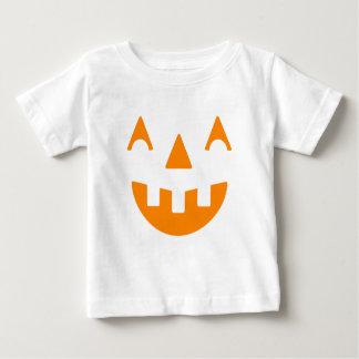 Het Gelukkige Gezicht van de Pompoen van Halloween Baby T Shirts