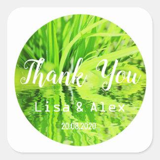 Het gelukkige Groene Gras dankt u de Sticker van