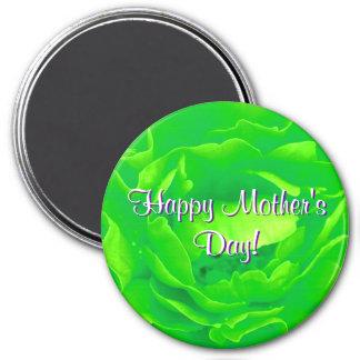 Het gelukkige Heldergroene Moederdag nam toe Koelkast Magneten
