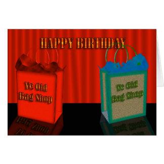 Het gelukkige Humeur van de Verjaardag, twee oude Kaart