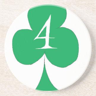 Het gelukkige Iers 4 van Clubs, tony fernandes Zandsteen Onderzetter