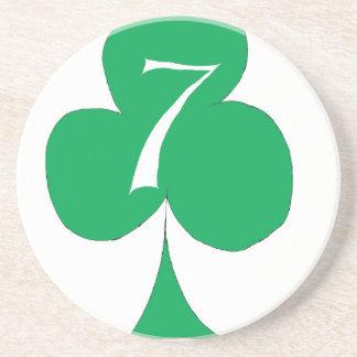 Het gelukkige Iers 7 van Clubs, tony fernandes Zandsteen Onderzetter