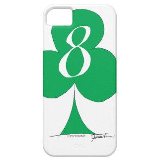 Het gelukkige Iers 8 van Clubs, tony fernandes Barely There iPhone 5 Hoesje