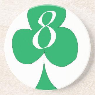 Het gelukkige Iers 8 van Clubs, tony fernandes Zandsteen Onderzetter
