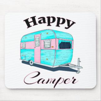 Het gelukkige Kamperen van de Aanhangwagen van de Muismatten