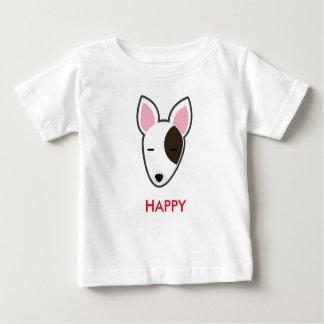 Het Gelukkige Kind van Bull terrier van Petory Baby T Shirts