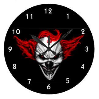 Het gelukkige Kwade Rode Haar van de Clown Grote Klok