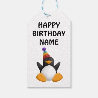 Het gelukkige Label van de Gift van de Pinguïn van Cadeaulabel