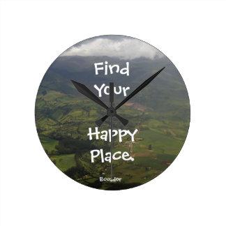 Het gelukkige Landschap van Ecuador van de Plaats Ronde Klok