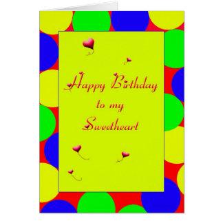 Het gelukkige Liefje van de Verjaardag Briefkaarten 0