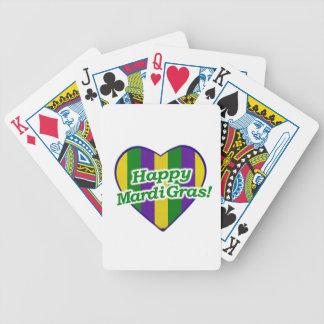 Het gelukkige Logo van Mardi Gras Poker Kaarten