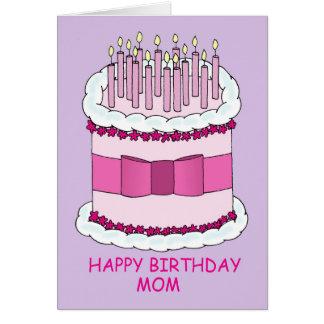 Het gelukkige Mamma van de Verjaardag, Grote Cake Wenskaart