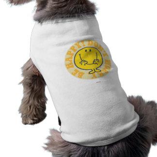 Het Gelukkige Motto van M. Happy's Mouwloos Hondenshirt