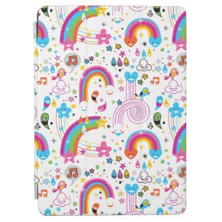 Het gelukkige Naadloze Patroon van de Regenbogen iPad Air Cover