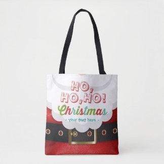 Het Gelukkige Nieuwjaar van Kerstmis van Ho Ho Ho Draagtas