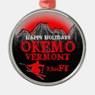 Het gelukkige ornament van de de skikunst van