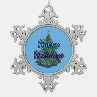 Het gelukkige Ornament van de Sneeuwvlok van het