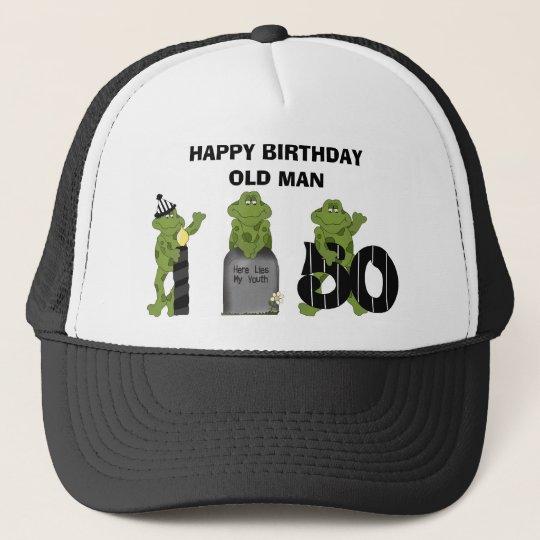 Het Gelukkige Oude Man Van De Verjaardag Trucker Pet Zazzle Nl
