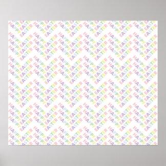Het gelukkige Patroon van de Zigzag van Pasen Poster