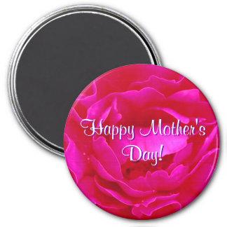 Het gelukkige Roze van het Moederdag nam toe Magneten