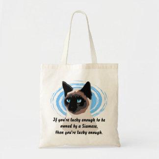 Het gelukkige Siamese Canvas tas van de Eigenaar