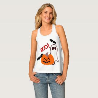 Het gelukkige Spook van Halloween met Pompoen Tanktop