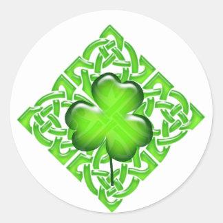 Het gelukkige St. Patrick Gelukkige Geluk van de Ronde Stickers
