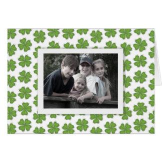 Het gelukkige St. Patrick Wenskaart van de Foto