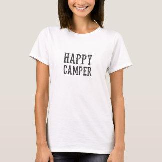 Het gelukkige T-shirt van de Kampeerauto
