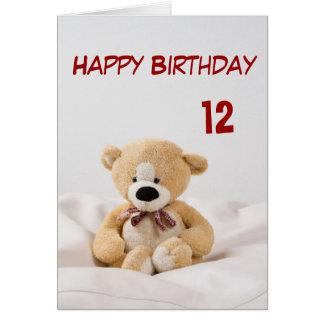 Het gelukkige Thema van de Teddybeer van de Briefkaarten 0