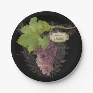 Het gelukkige Thema van de Wijngaard van de Papieren Bordje